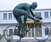 Cyclist statue, not sure where this was