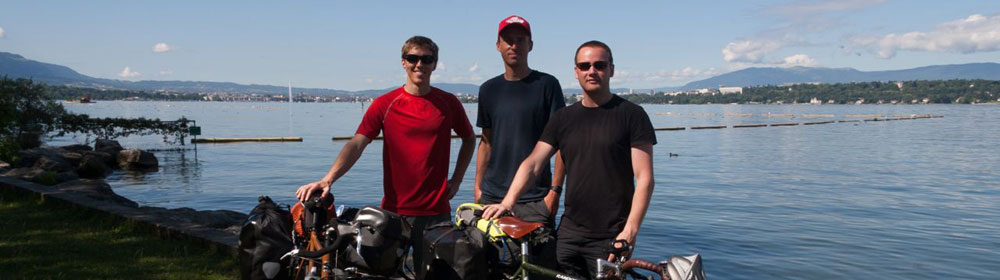 Tim, Darren and me down by Lake Geneva